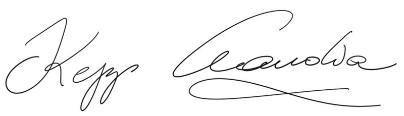 Unterschrift Claudia